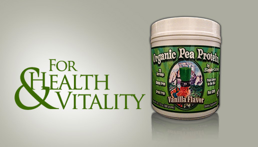 Organic Pea Protein - For Health & Vitality